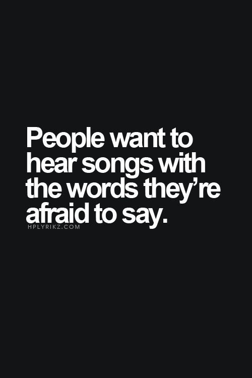 Hearing someone sing about something weighing on you good or bad always makes you feel better