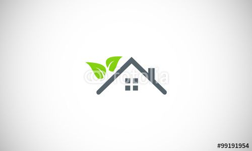 Vector: eco house garden logo