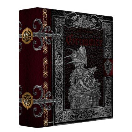 The Grand Grimoire Witches Book Of Shadows Binder - floral style flower flowers stylish diy personalize