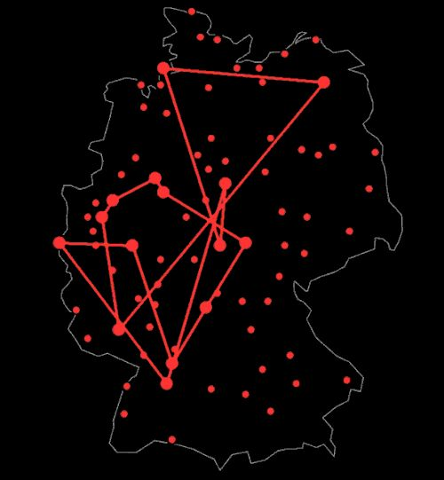 How do you solve the traveling salesman problem?