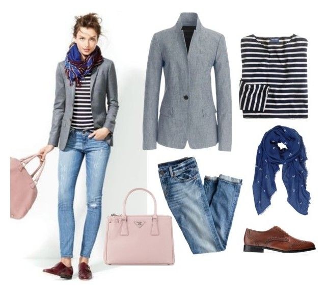 """Friday"" by andthisisthereasonwhy on Polyvore featuring J.Crew, Cole Haan, Humble Chic and Prada"
