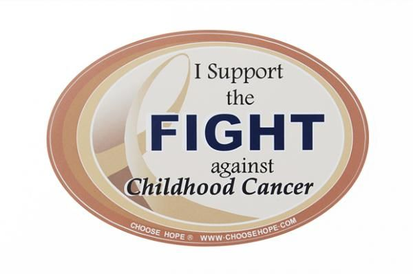 Cancer Ribbon Decal - Childhood Cancer (Gold)
