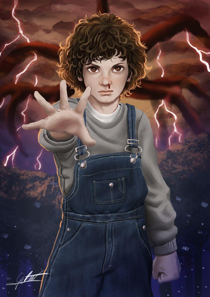 Eleven From Stranger Things 2, Gabriel Vitoria on ArtStation at https://www.artstation.com/artwork/qz0PR