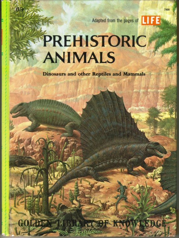 Vintage Golden Press Book Prehistoric Animals Dinosaurs