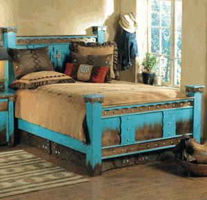 Domingo Azul Bed - Queen Montanna would LOVE this bed!