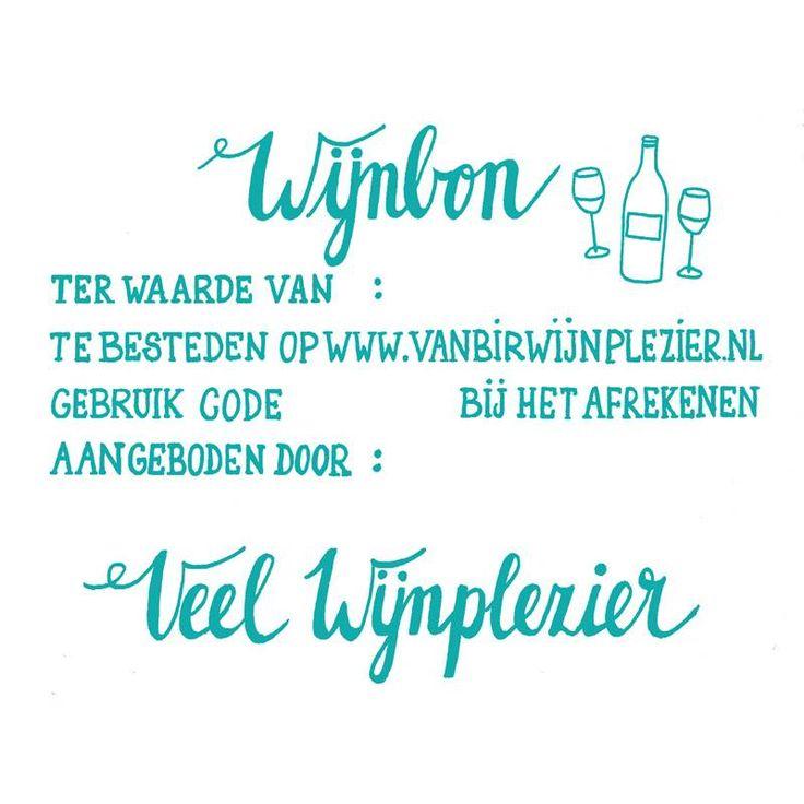Wijncadeaubon voor de wijnliefhebber www.vanbirwijnplezier.nl