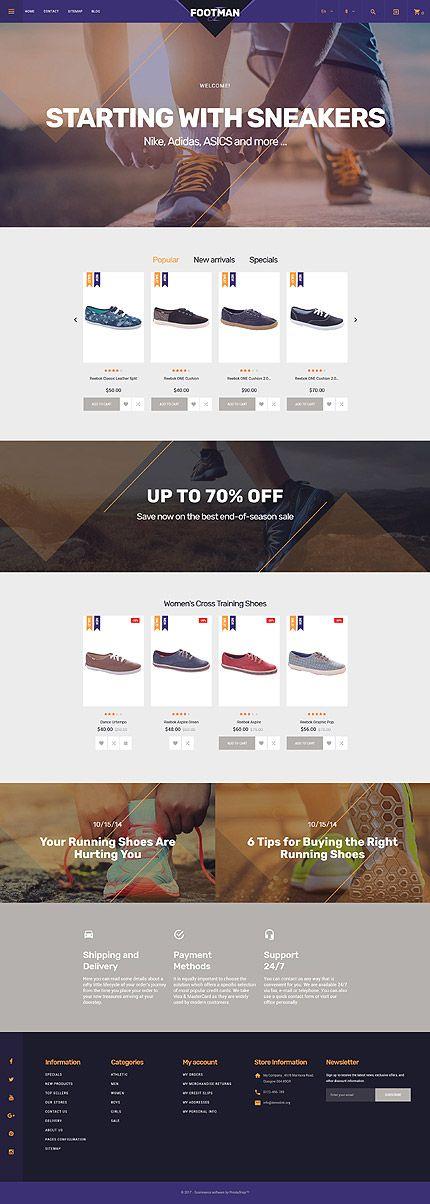 Template 62259 - Footman Sneakers Store Responsive PrestaShop Theme