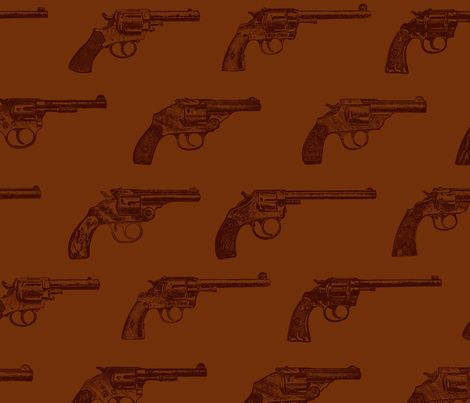 Western Revolvers fabric by cloudycapevintage on Spoonflower - custom fabric