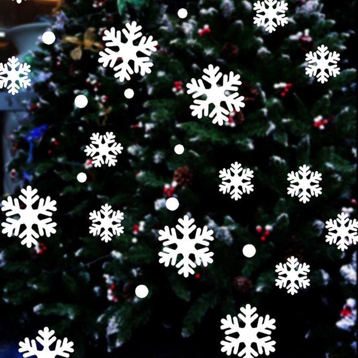 Decorações de natal Etiquetas Da Janela Adesivos de Parede De Vidro Festival do Anjo Etiqueta Do Floco De Neve de Natal Xmas Decoração Decalques de Vinil Arte(China (Mainland))