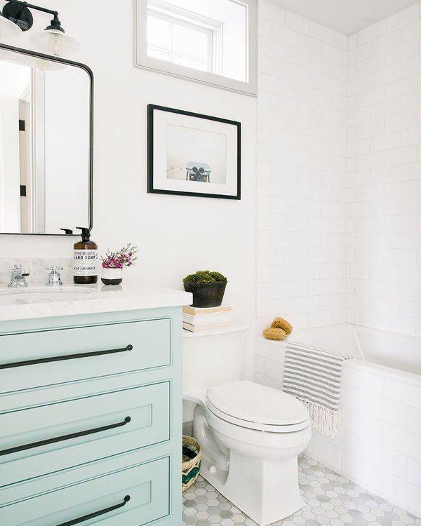 7 Bathroom Vanity Cabinet Colors You Ll See Everywhere In 2020 Hunker Bathroom Cabinet Colors Bathroom Vanity Cabinets Unique Bathroom Vanity