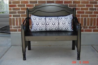 Beautiful benches made from cribs and headboards. From cassandra designs