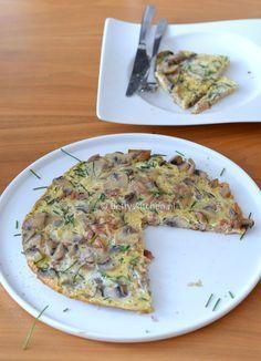 Recept: omelet met spekjes en champignons