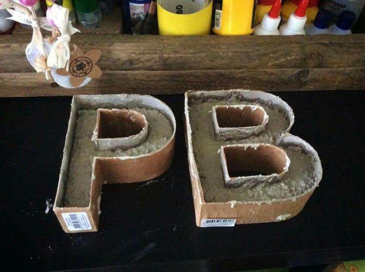 25 beste idee n over kartonnen letters op pinterest kartonnen ambachten met weefsel bedekte - Tijdschrift chic huis ...