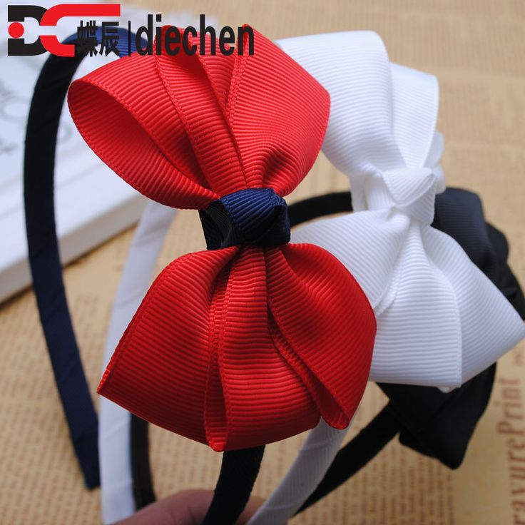 1piece big flower ribbon bows baby toddler hairbands kids headbands children hair hoop boutique tiara accessories for girls