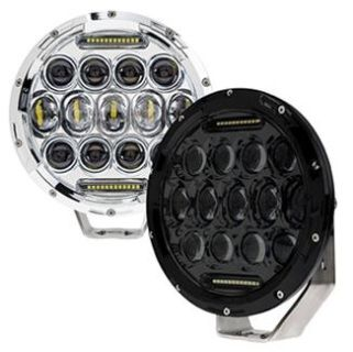 Driving, Work, Spot, Light LED 75W  Operating Voltage: 10-30V DC  Waterproof rating: IP 67  15*5w high intensity Phillips LEDs  Luminous Flux 6375lm  High & Low Beam with DRL  Optional Color: Black & Silver  Color Temperature: 6000K  Material: Die cast aluminum housing  Lens material: pc  Mounting Bracket: Aluminium  Expected Life 50000+ hours  Certificates: CE RoHs