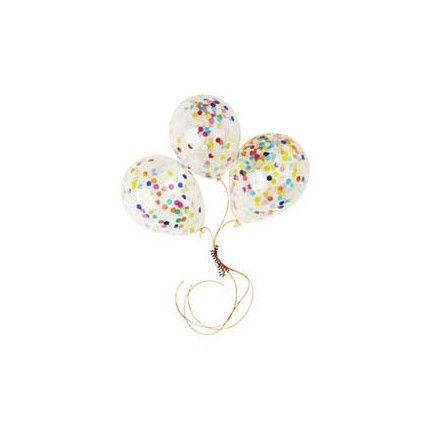 Poppies For Grace - Mini Confetti Balloons X 3 - Rainbow