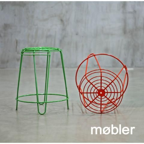 Banquito Taburete Moderno Banco Diseño Industrial Retro
