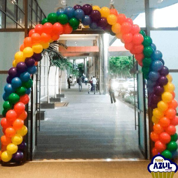 Arco de balões - arco íris
