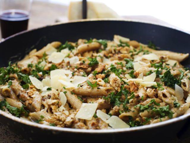 Pasta med valnötssås