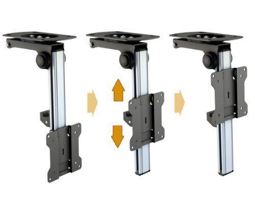 RICOO TV Deckenhalterung D0111 Monitor Deckenhalter Schwenkbar Neigbar Klappbar Schwenkarm Decken Halterung Dachschräge Fernsehhalterung Fernseher Wandhalter LED LCD Halter Universal max VESA 100x100