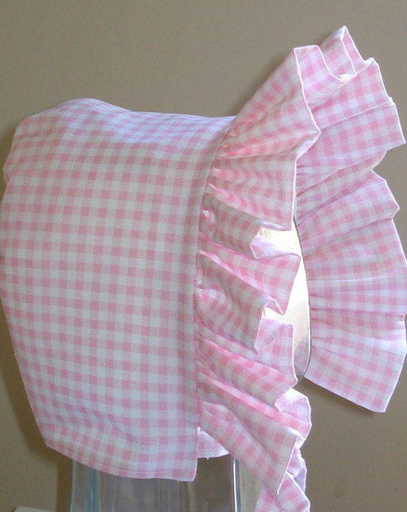 Baby Bonnet Pink GinghamSun Hat