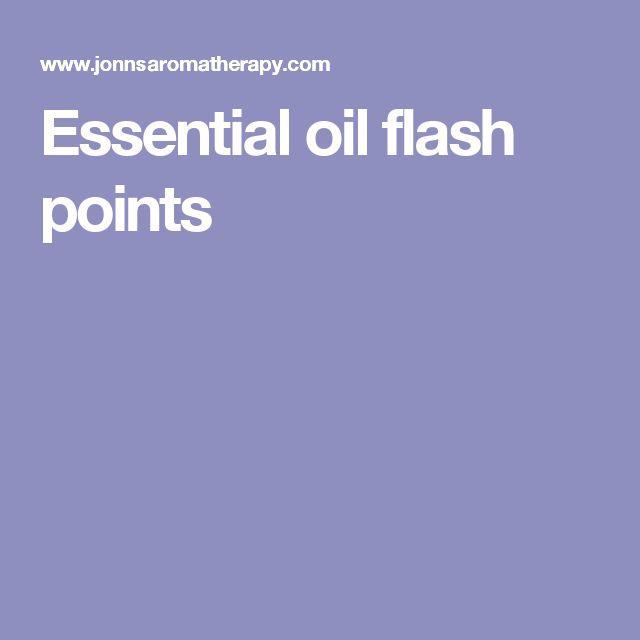 Essential oil flash points