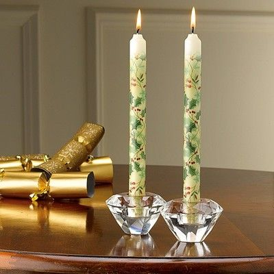 Museum Selection Festive Holly Dinner Candles