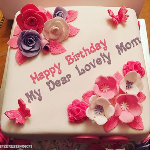 The name [my dear lovely mom] is generated on Beautiful Birthday Cake For Girls With Name image. Download and share Birthday Cake With Name images and impress your friends.