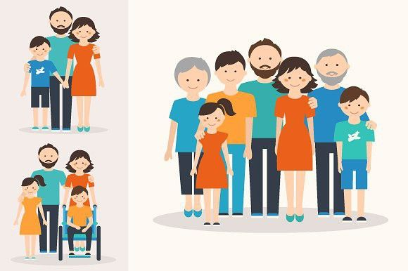 Families Of Different Types With Images Pattern Illustration