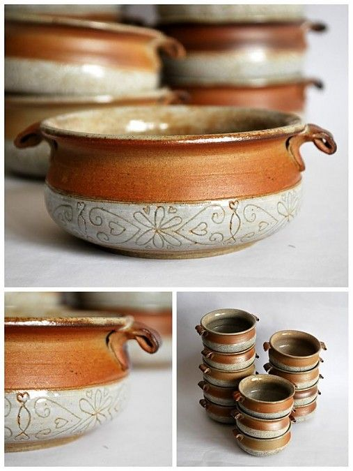 Soup Bowls (woodfired) - love the little tab handles. :)