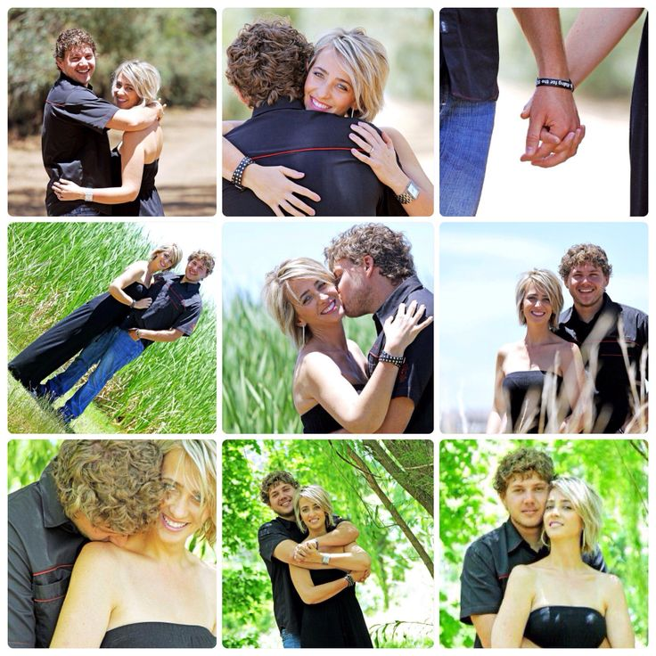 Engagement shoot collage