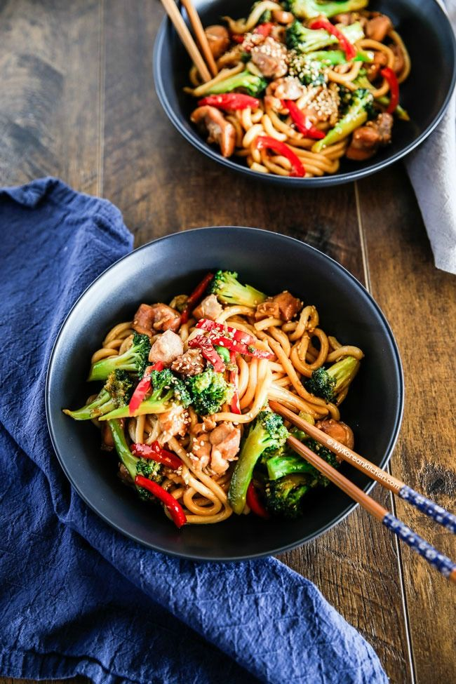 237 best korean food noodles images on pinterest cooking food easy chicken and broccoli noodle stir fry forumfinder Choice Image