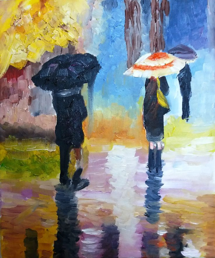 Regina Oyarzún  Día de lluvia óleo sobre tela de 20x30  (Réplica)