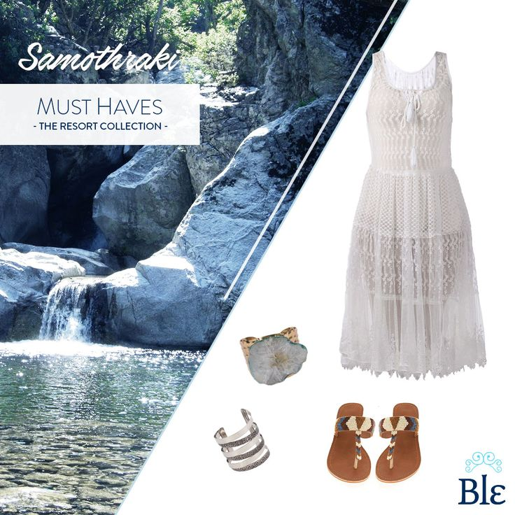 Did September find you in #Samothraki? A beautiful dress, your favourite pieces of jewellery and comfy sandals are the look to go for!  http://www.ble-shop.com/collections/white-collection/dress-in-white-color-large-100-polyester.html http://www.ble-shop.com/sandals/leather/leather-sandal-flip-flop.html http://www.ble-shop.com/jewelery/bracelets.html #BleResortCollection #AutumnFashion #Fashion #Style #StillOnHolidays #Holidays #GreekIslands #Dress #Jewelery