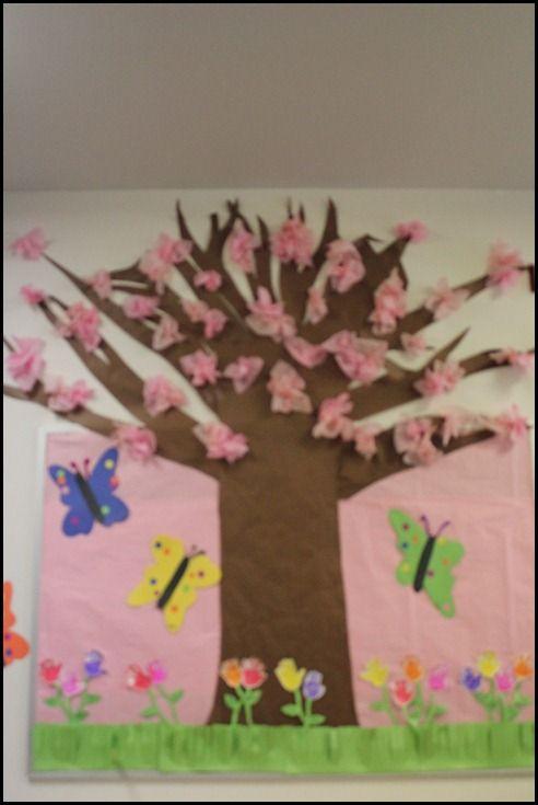 How freakin cool is this??? I LOVE it!! Spring bulletin board ideas...  www.schoolgirlstyle.com