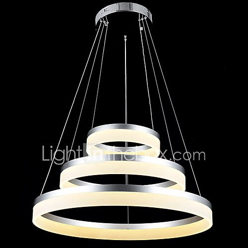 Round LED Chandelier Lights Lighting Modern Acrylic Lamps Luxurious Three  Rings Ceiling Light Fixtures 204060 2017