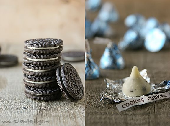 Cookies and Cream Cheese Brownies- Hershey's Kisses