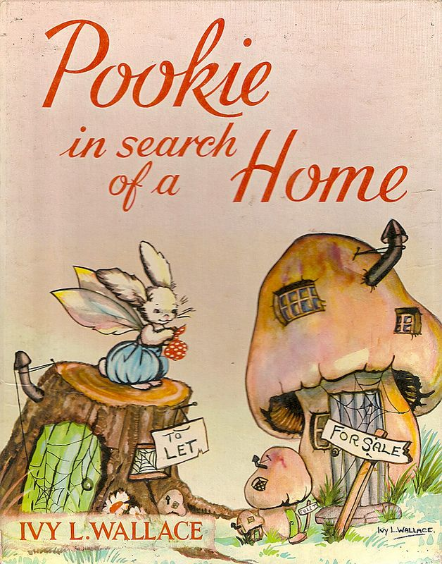 """Bunny Rabbits - Children's Book Illustrations """"Pookie in Search of a Home"""", written and illustrated by Ivy L. Wallace."""