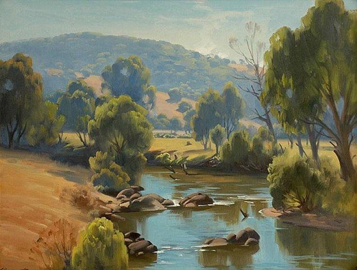 Ernest Buckmaster Autumn Morning on the Mitta Mitta River Near Tallangatta