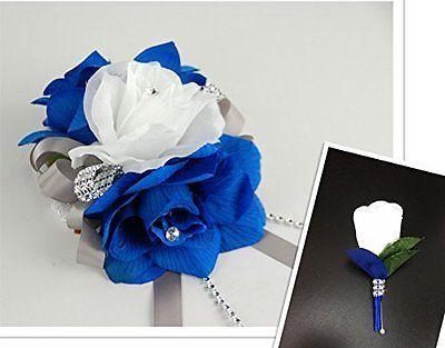 2pc-set-horizon-royal-blue-white-wrist-corsage-boutonniere-set