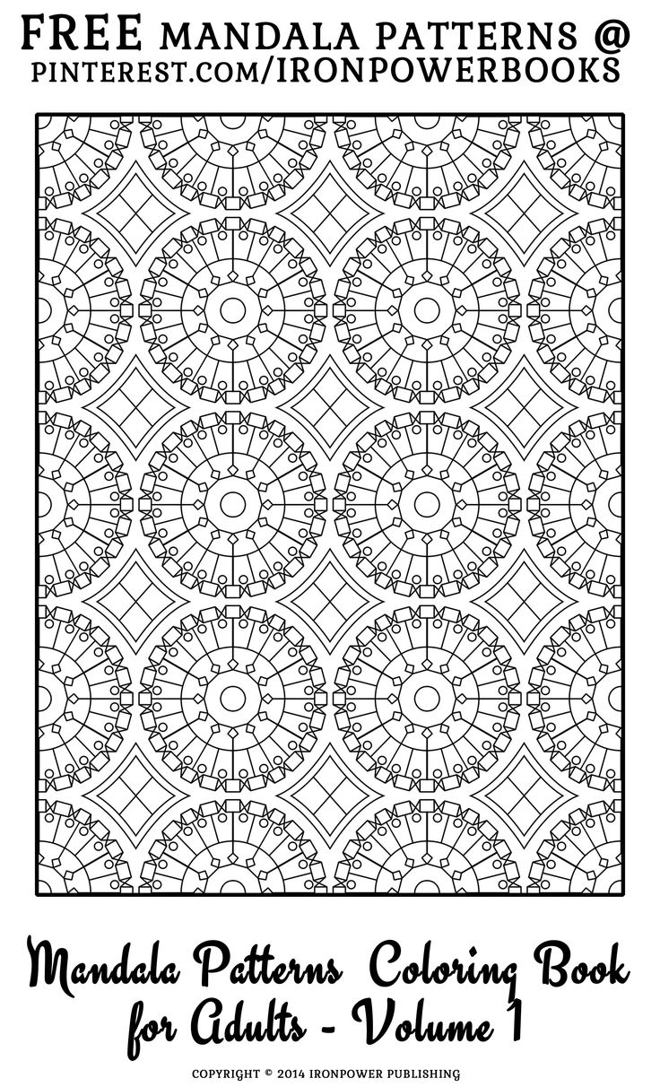 Free coloring pages quilt patterns - Free Mandala Patterns Coloring Pages For Adults For More 49 Patterns Visit Http