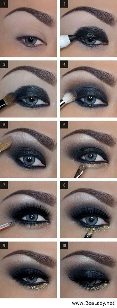 Dark Eye Makeup Tutorial Step By Step Pictures, Photos, and Images for Facebook, Tumblr, Pinterest, and Twitter