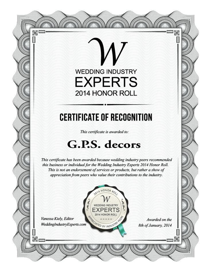 I Am Happy To Announce That GPS Decors Been Selected For The Wedding Industry Experts 2014