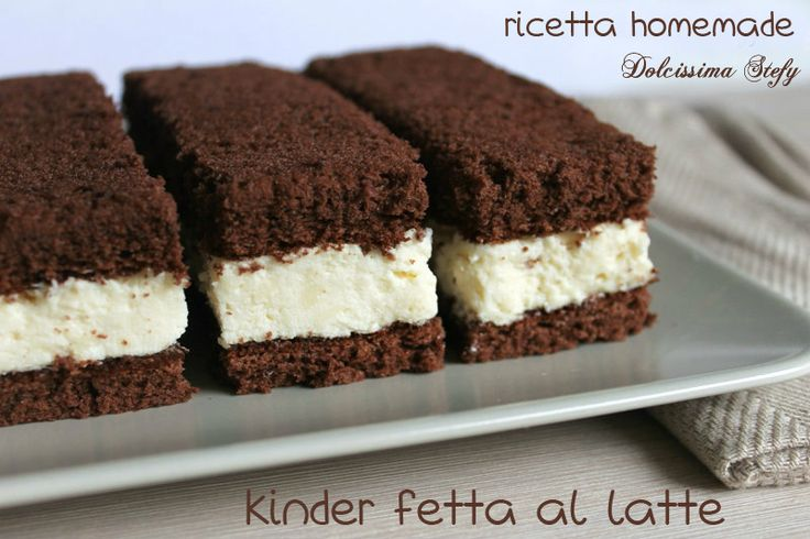 Kinder Fetta al Latte homemade