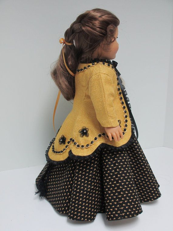 1865 Civil War Dress and Paletot for Marie Grace by karenstinytreasures via  Etsy $59.00