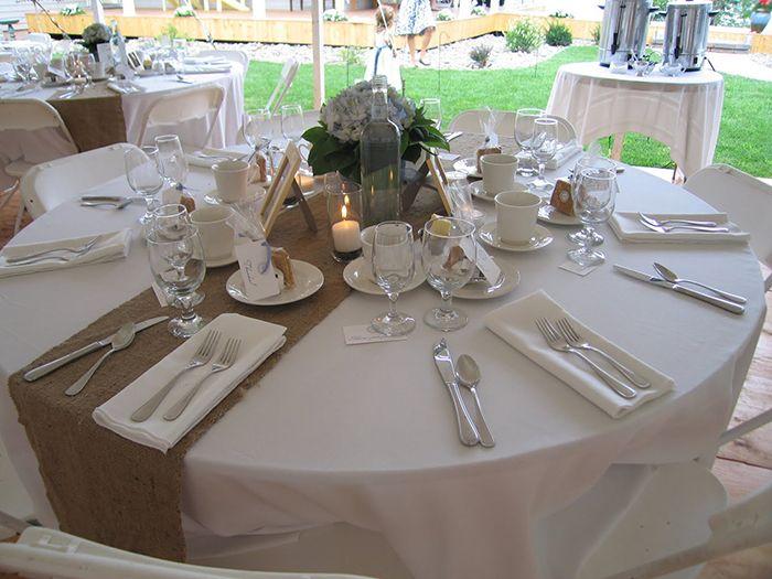 Juta no seu casamento - mesa hortensias