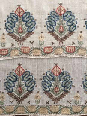 19th C ANTIQUE OTTOMAN-TURKISH HAND EMBROIDERY ON LINEN 'YAGLIK'' | Antiques, Linens & Textiles (Pre-1930), Embroidery | eBay!