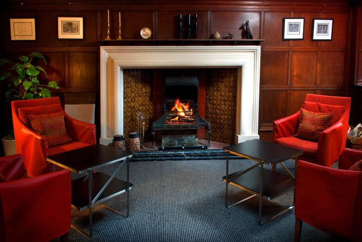 The grand fireplace in the Billiard room