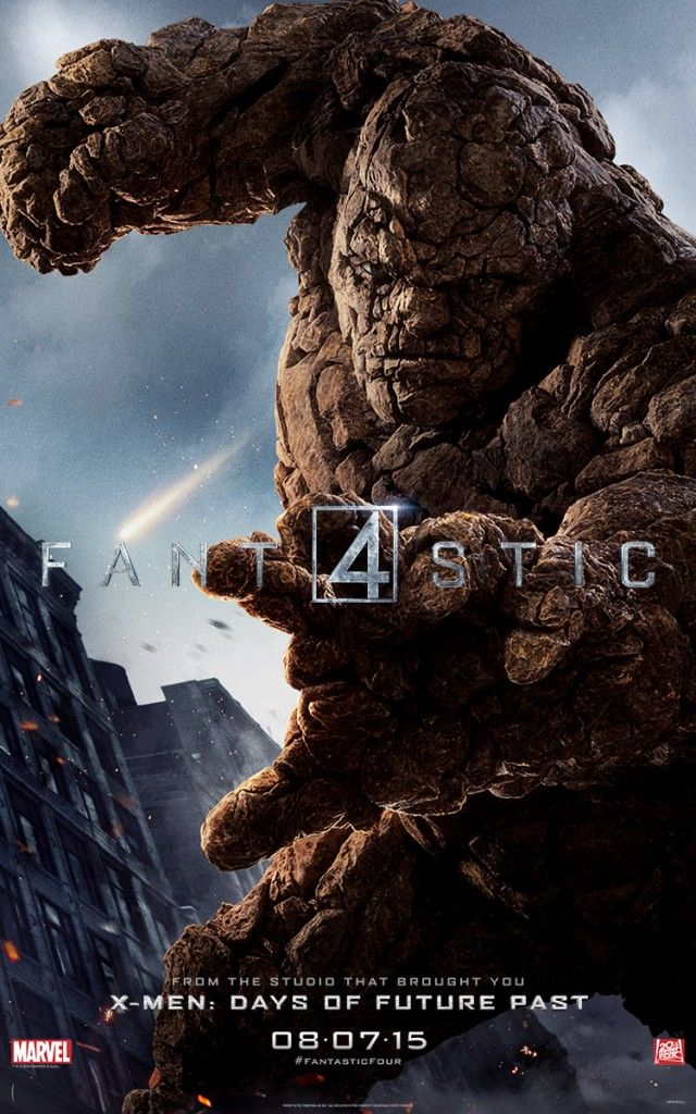 Ben Grimm/ The Thing FANTASTIC FOUR Character Poster http://nerdyrottenscoundrel.com/fantastic-four-character-posters-and-banner-released/
