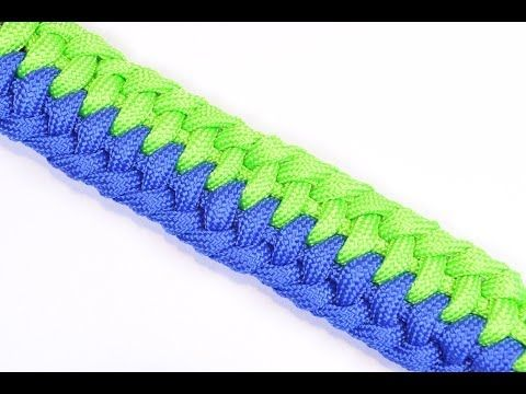 "▶ Make a Paracord Bracelet called ""The Tsunami"" - BoredParacord - YouTube"